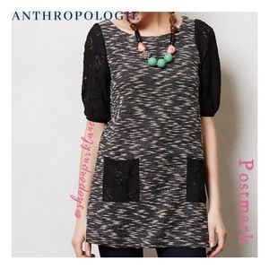 Anthropologie Postmark Staccato Lace Tunic, Medium